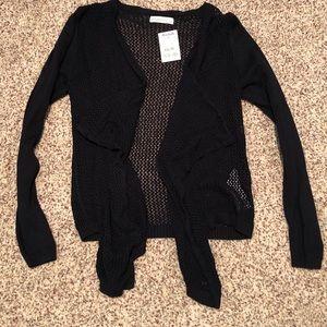 A&F crochet flowy cardigan NWT